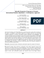 Developing Culturally Responsive Programs to Promote International Student Adjustment
