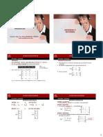2.1 Matrices y Vectores