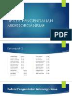 Kelompok 2 Upaya Pengendalian Mikroorganisme