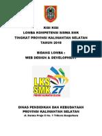 Kisi Kisi Web Design Development Lks Provinsi Kalsel 2018