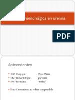 Diátesis Hemorrágica en Uremia