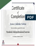 farrone-pandemic interprofessional exercise 2018