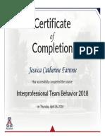 farrone-interprofessional team behavior 2018
