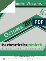 Current Affairs October 2018 PDF Version