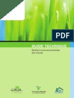 Guide Tech Gestion Environnementale Des Fossés