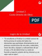 Clase 05 - Costo Directo de Obra - Análisis de Costo.pdf