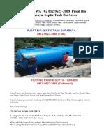 PALING AWET, WA +62 812-9627-2689, Pusat Bio Septic Tank Surabaya, Septic Tank Bio Seven