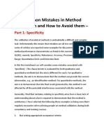 Common Mistakes in Method Validation and How to Avoid Them