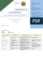 Syllabus - Eng 112 Technical Writing & Reporting (Ma'Am Charm)