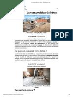 La Composition Du Béton - GuideBeton.com