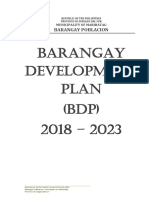 Barangay Development Plan (2018 - 2023)