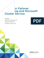Setup for Failover Clustering and Microsoft Cluster Service - VMware VSphere 6.0