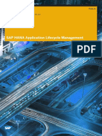 SAP HANA Application Lifecycle Management En