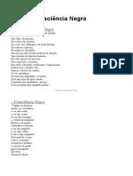 Poesia Consciência Negra