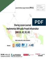 2018-05-09 Penjelasan Umum Peran Dan Manfaat BIM
