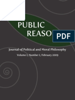 Public Reason - Volume 1, Number 1, February 2009