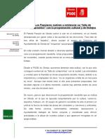 NP-El PSOE Lamenta La Falta de Compromiso Del PP en Sus Propuestas