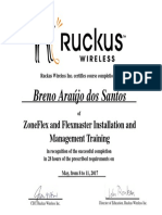 Certificado Treinamento RuckusWireless Rede Sem Fio-Breno Araujo Dos Santos