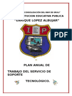 Plan Anual de Trabajo Soporte Tecnologico JEC MINEDU Aurelio Cardenas