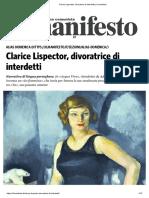 Clarice Lispector Divoratrice Di Interdetti - 14092018
