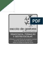 Democracia Formacao Gestao Escolar