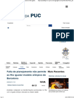 Jornal Da Puc. Planjeamento Olimpico