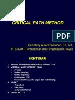 Kuliah 4 - Critical Path Method.ppt