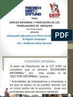 La Economia Informal y la Situación de la Región Arequipa
