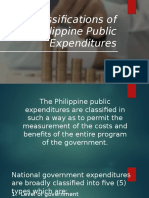 Classifications of Philippine Public Expenditures