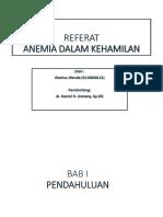 Referat Anemia Dalam Kehamilan