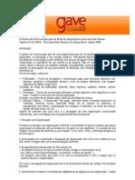 GAVE - Guia das Artes Visuais e do Espectáculo (Política de Comunicação)