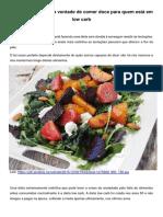 Alimentos Que Tiram a Vontade de Comer Doces Para quem esta na Dieta low carb