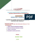 """""""Contratos Afines Que Se Distancian Del Contrato de Trabajo"""""""