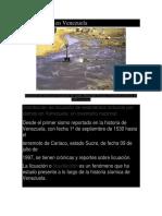 Licuefacción en Venezuela