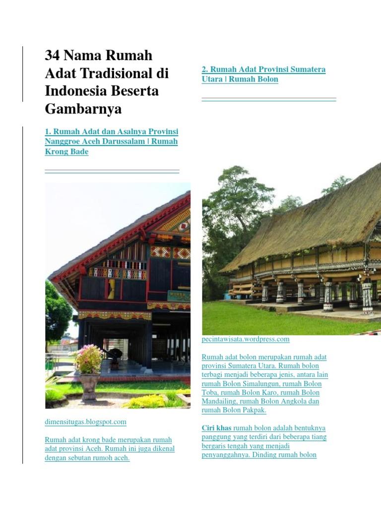 680+ Gambar Rumah Adat Tradisional Beserta Asalnya Gratis Terbaru