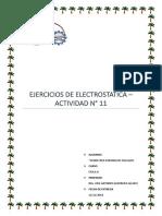 ACTIVIDAD N° 11 - ELECTROSTATICA