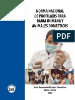 Manual de Profilaxis para rabia
