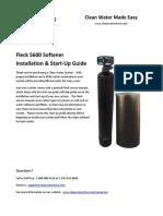 5600 Softener Startup