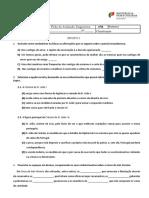 Ficha Diagnóstica- 11ºano