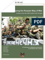 Analyzing the Russian Way of War