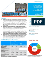 UNICEF Myanmar Humanitarian Situation Report Mid-Year 2018