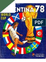 Album Panini Mundial 1978 Argentina