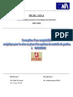 la conception de la comptabilité analytique pour la mise en