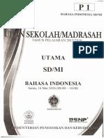 1. UN SD Bahasa Indonesia 2016