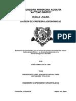 Evaluación de Insecticidas Para El Control Del Gusano Barrenador Del Ruezno