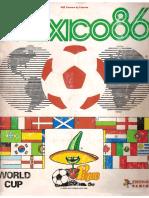 Album Panini Mundial 1986 Mexico
