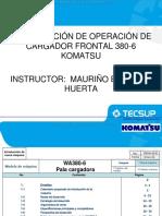 Curso Cargador Frontal Wa380 6 Komatsu Caracteristicas Beneficios Rendimiento Diseno Estructura Partes Componentes