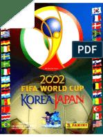 Album Panini Mundial 2002 Corea-Japon