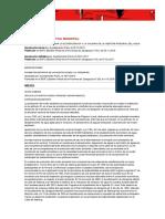 ORDENANZA MUNICIPAL PARA LA ECOEFICIENCIA Y LA CALIDAD DE LA GESTIÓN INTEGRAL DEL AGUA