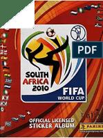 Album Panini Mundial 2010 Sudafrica